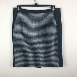 J.crew the pencil skirt wool houndstooth w/ pocket
